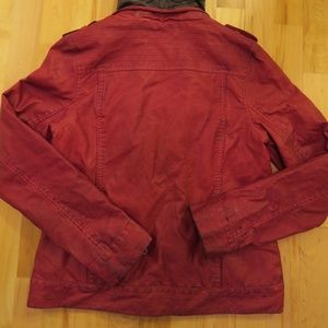 BKE Jackets & Coats - BKE Faux Leather Outerwear Motorcycle Jacket Red